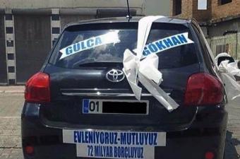 Yurdum insanının gelin arabalarındaki mizahı